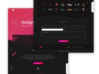 Personal website Landing Page
