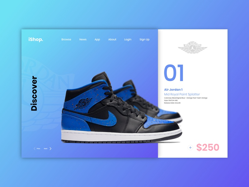 Ishop. E-commerce landing page shopping user experience website landing page user interface design ux ui