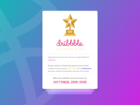 Dribbbble Invitations giveaway