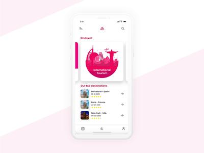 Travel App airplane international vacation travel user experience user interface design ux ui