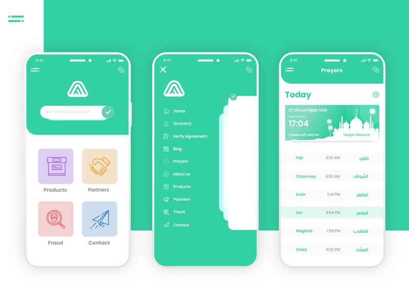 Association App product design wireframe prototype design animation