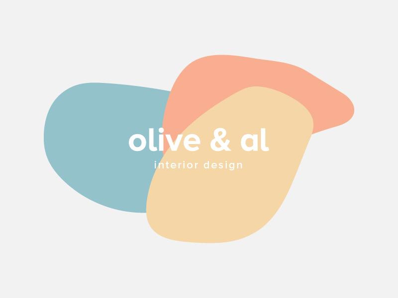 Olive & Al: Interior Design Logo pastel logo pastel colors bold type minimal logo fayetteville arkansas pastel bold logo