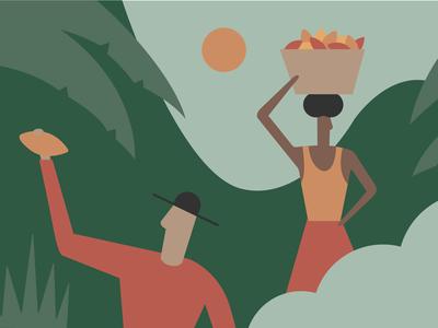 Cacao Farmers arkansas people characters chocolate character design minimal flat illustration illustration