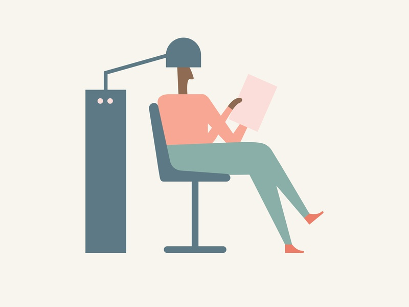Gossip / Salon fayetteville character design arkansas salon pastel colors flat illustration minimal illustration minimal illustration