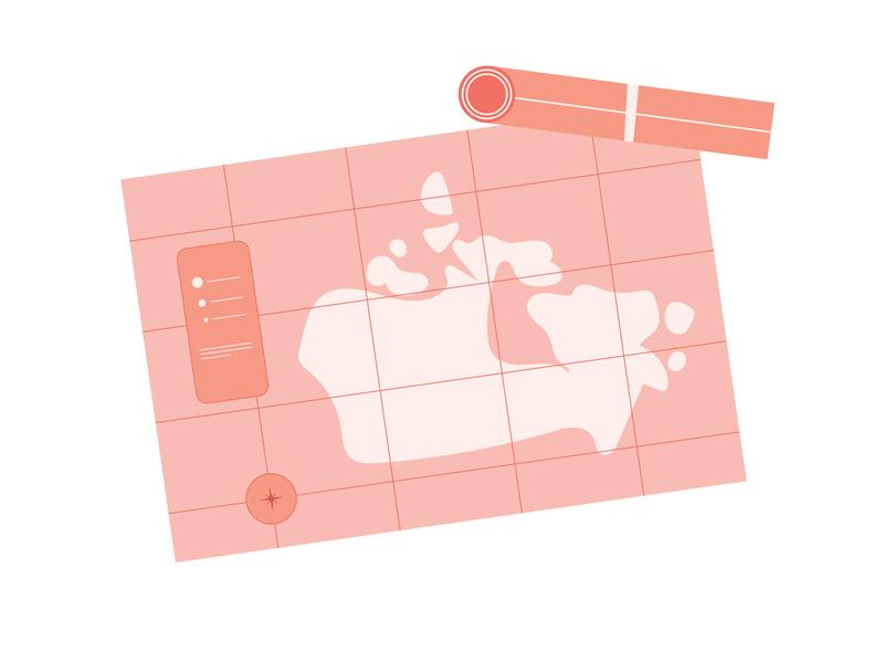 Old Maps maps pastel magazine illustration editorial illustration flat illustration minimal illustration arkansas