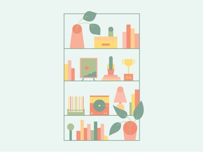 Shelf (Molly's Decorating) fayetteville minimal illustration vector pastel colors minimal flat illustration illustration arkansas