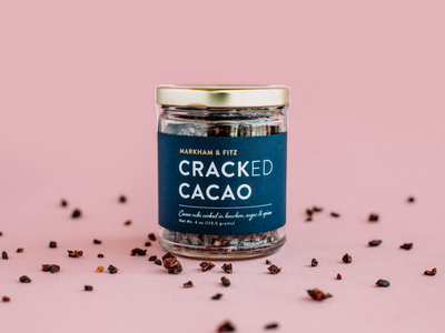 Cracked Cacao Packaging product photography branding arkansas product design glass jar chocolate food packaging packaging