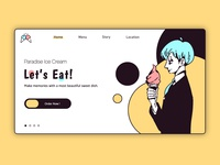 Paradise Ice Cream Online Shopping&Delivery Page Design