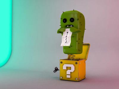 3D Rusty Cactus Toy