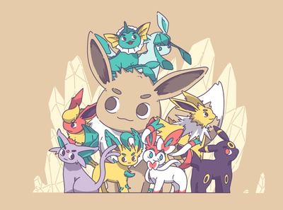 Pokemon_Eveen illustration