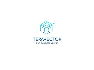 Tera Vector Studio logo concept design illustration vector flat