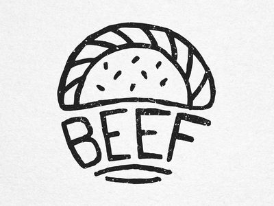 Beef - House of Empanadas Icon food empanadas icon stamp handmade ink