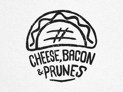 Cheese, Bacon & Prunes food empanadas icon stamp handmade ink