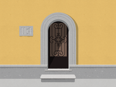 #Portalesilustrados - Av. Nuevo León 114 puertas portals ironwork portalesilustrados doors illustration