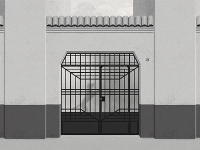Tepeji 21 - #PortalesIlustrados cdmx mexico colonia la roma tepeji 21 alfonso cuarón cuaron roma puertas portales ilustrados door ironwork ilustracion illustration doors