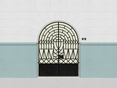 Orizaba 212 - #PortalesIlustrados ironwork illustrator illustration ilustracion door puertas doors portals portales ilustrados