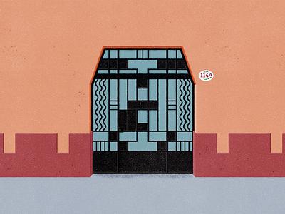 Naranjo 144 - #PortalesIlustrados ilustracion ilustración illustrator illustration ironwork puerta puertas door doors portals portales portalesilustrados portales ilustrados