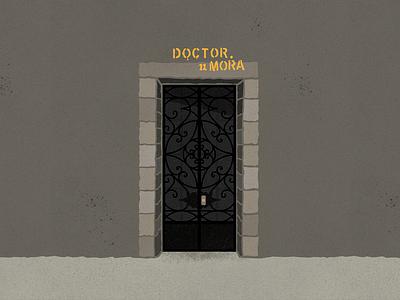 Doctor Mora 11 - #PortalesIlustrados puerta puertas doors door ilustraciones ilustración patterns pattern ilustracion portales portalesilsutrados portals ironwork illustration