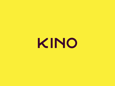 Kino typographic logo typography branding identity logo