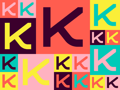 Kino k identity typography design branding icon logo