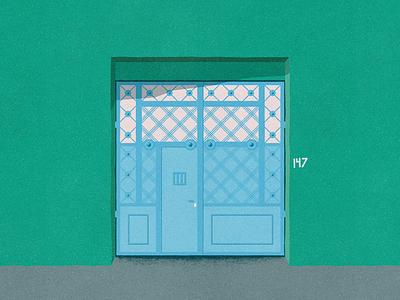 Dr. Carmona y Valle 147 - #PortalesIlustrados portales ilustrados patterns pattern illustration door puertas portals ironwork doors