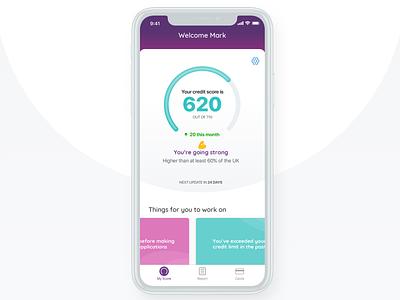 MoneySuperMarket Credit Monitor app branding ux ui android ios fintech