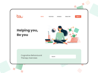 BeU - Helping you, be you. animation android therapy vector branding illustration app mobile ux ios ui