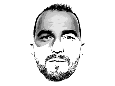 Nino Schurter illustration (in progress) vector work in progress cycling portrait illustration illustrator