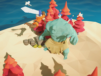 LowPoly_Isolated island