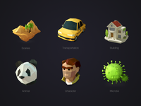 LowPoly iconset