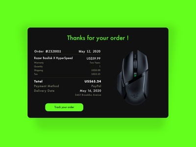 || Email Receipt || Daily UI 17