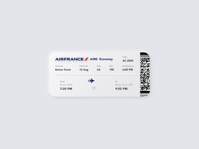 || Boarding Pass || Daily UI 24