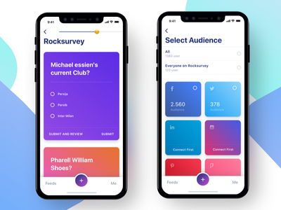 Rock Survey App ios ui experiment gradient ux user interfaces ios 11 mobile apps user experience iphone 10 iphone x survey
