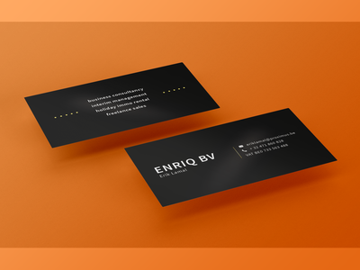 Enriq BV graphic design design bussines card