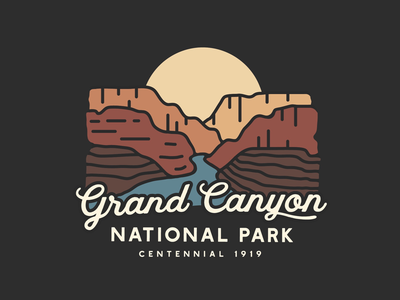 Grand Canyon National Park typography adventure outdoors apparel illustration