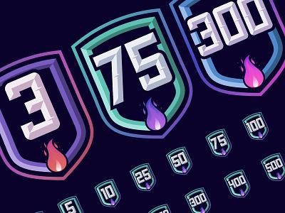 Badge Overdose typography gym pink logo app ux vector ui design fitness
