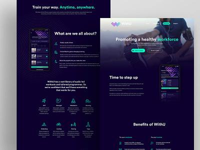 WithU Website debut brand ux logo ui design gym branding fitness website