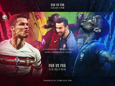 PORTUGAL V FRANCE / REDEMPTION pogba ronaldo euros football soccer red blue france portugal ui design fitness branding