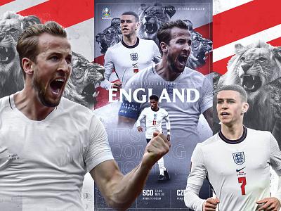 ENGLAND / EURO 2021 soccer gfx editing photoshop social media graphic design design football england
