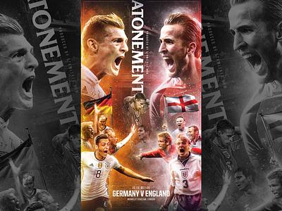 GERMANY V ENGLAND / EURO 2021 graphic design football soccer germany england