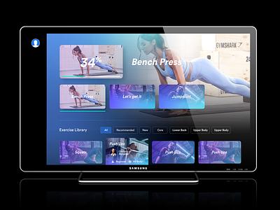 Smart TV / UX + UI / Bringing to life tv sports gym fitness ux ui smart tv