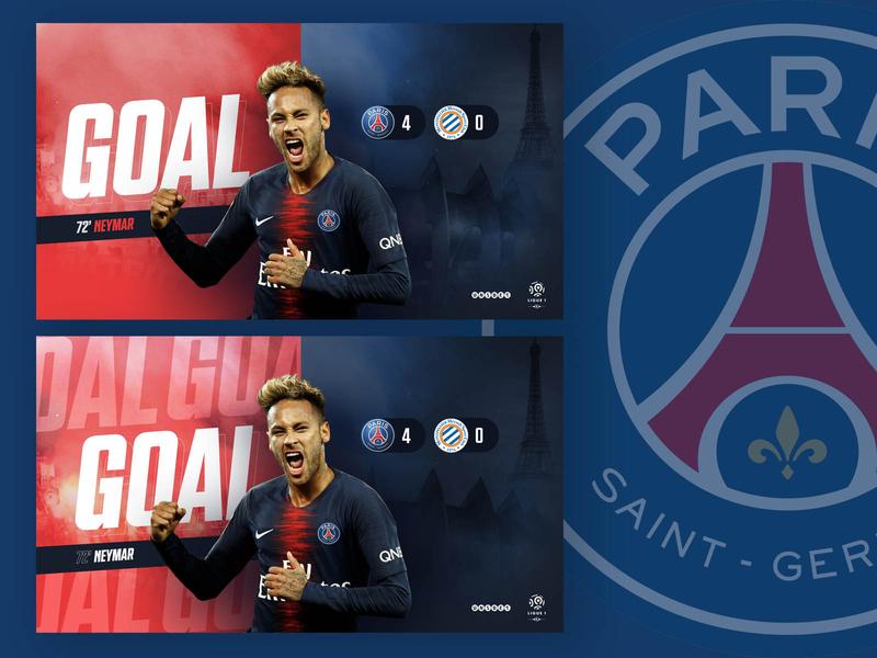 PSG X STRMLINED white blue red brand social football soccer france brazil neymar psg