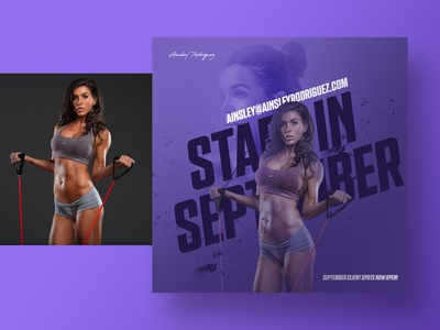 Just Branding socialmedia social gym purple colors brand branding health fitness