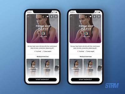App Transitions - V1 WithU branding app design work debut design gym fitness yoga transition anim animation app