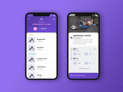 Yoga App / Structure of a fitness app branding yoga studio debut light white purple ux ui fitness gym yoga