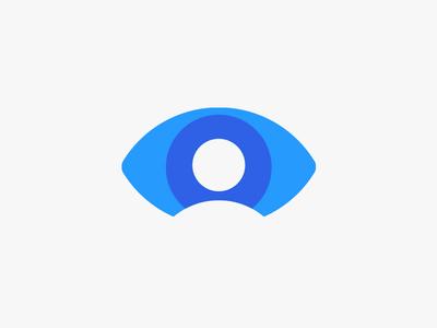 Bluesight Eye — Facial Recognition Logo Design