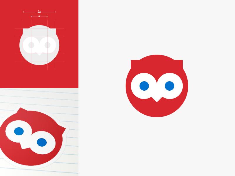 Ooh La Label Owl — Kids Sticker Creator Logo Design logomark identity design logo branding sticker owl school