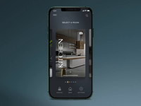 """Smart Home App"" product interaction motion smart home principle concept design animation exploration ux ui"