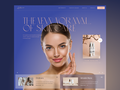 """Cosmetics layout exploration"" cosmetics concept website web interface design exploration ux ui"