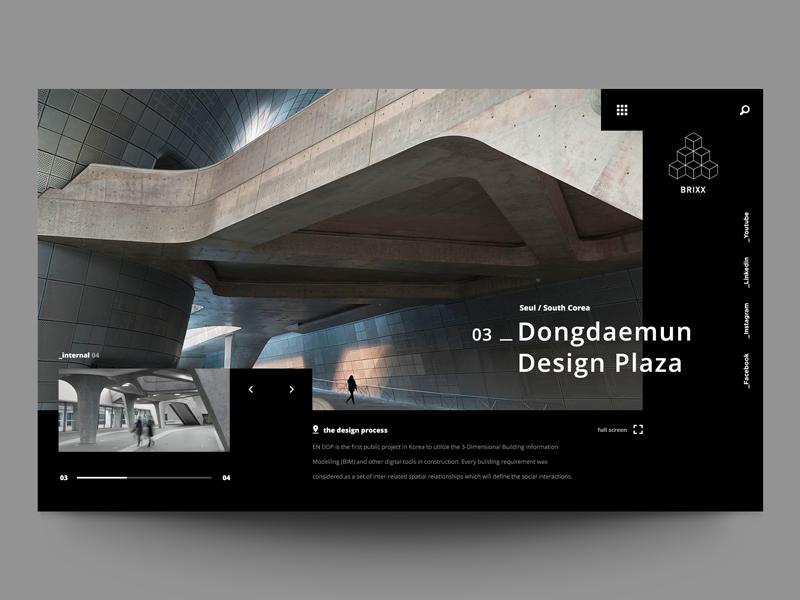 Update №21 Exploring layout for architecture web site web ui minimal header exploration design architecture